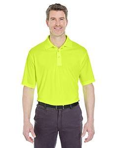 Men's Cool & Dry Sport Performance Interlock Polo BRIGHT YELLOW M (Jacquard-polo-tee)