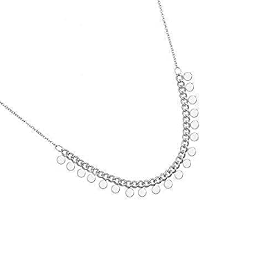 Collier ras de cou Petite Perles Boules Pampilles Argent ou Or - Minimaliste et Délicat
