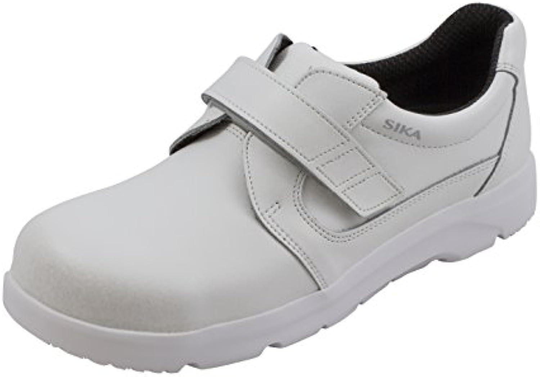 OptimaX Schuh mit Klettverschluss mit Stahlkappe weisssszlig S2 + SRA + BGR 191