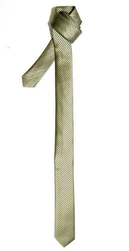Cravate Fine Slim Texturé À rayures Tissée en Microfibres de Retreez Or - Gold - Gold