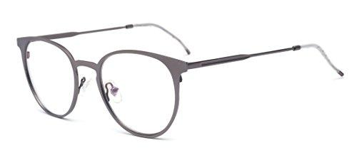 ALWAYSUV Modische Sonnenbrillen Metal Brillenfassung light Gewicht Aviator Clear Lens Glasses Fashion Glasses (Aviator Brille)
