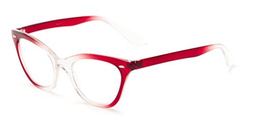 readerscom-the-laura-225-red-clear-fade-womens-cat-eye-reading-glasses-by-readers