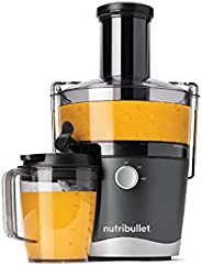 nutribullet Juicer Extractor, 800 Watts, 8 Piece Set, Dual Speed, 76mm Wide Feed Chute Accommodates Whole Frui