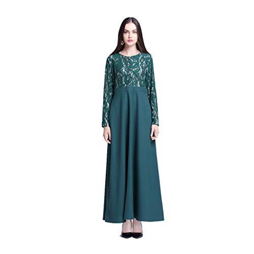 dd85067ddadc Ginli Abito Lungo Arabo Musulmano A Manica Lunga Dubai Kaftan per Donna  Abaya Vestito con Stampa