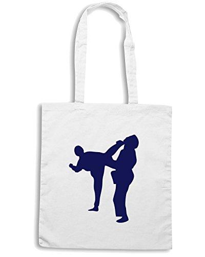 T-Shirtshock - Borsa Shopping TBOXE0001 Ash-martial-arts Bianco