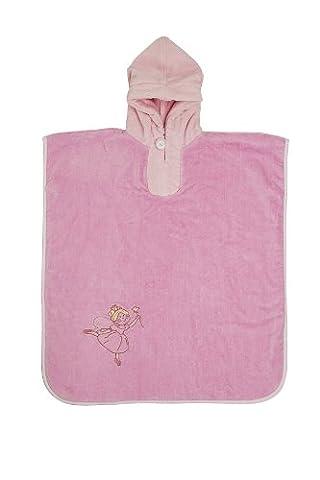 Slumbersac Bade Poncho mit Kaputze für Kinder 5-8Jahre - Pink Fairy
