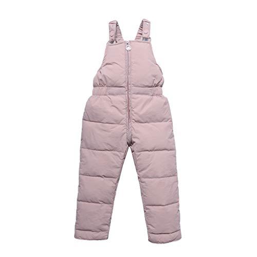 wuayi Kinder Neugeborenes Baby Mädchen Jungen Einfarbig Verdicken Schneehose Overall Jumpsuit Daunenhose Winter