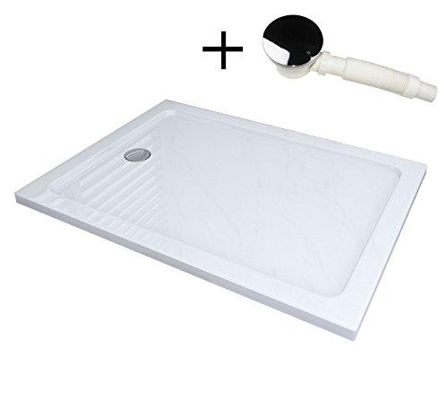 120 x 90 Duschtasse Duschwanne Acryl Dusche Acrylwanne 40mm flach Rechteck für Duschabtrennung Duschkabine 90MM