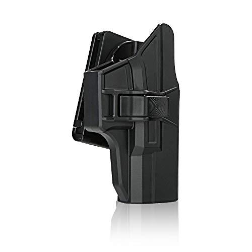 efluky Holster Pistola Molle Pistolera Airsoft Gun Holster para Glock 19 23 32(Gen1-5), Glock 19X, Glock 45, Belt Clip 60° Adjustable