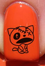 Halloween Chat mort - Stickers pour ongles YRNAILS