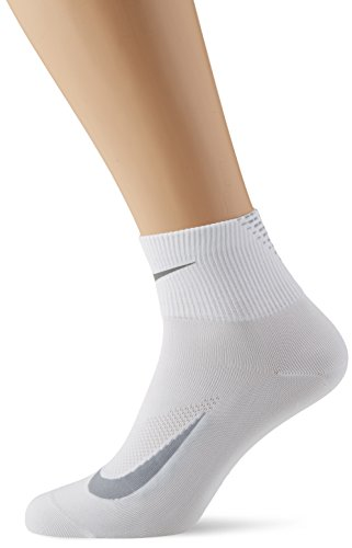 Nike Herren Elite Lightweight 2.0 Quarter Socken Elite Lightweight 2.0 Quarter, White/Wolf Grey/Reflect Silver, 8/9.5 (Herstellergröße: 8/9.5) (Quarter Elite Nike)
