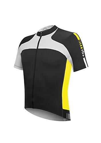 zero rh+ Fahrradtriko Agility Jersey FZ - Prenda, color multicolor (black/acid yellow), talla xxl