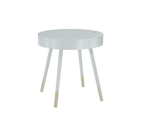 MORE DESIGN Table Basse, MDF, Blanc Naturel, 46 x 47 x 46 cm
