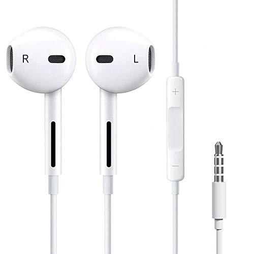 Luvfun Audio In Ear Kopfhörer, Wasserdicht Sport Kopfhörer mit Mikrofon, Stereo Bass Technologie Kopfhörer 3,5 mm Klinkenstecker - Weiß (Billig Boost Mobile Iphones)