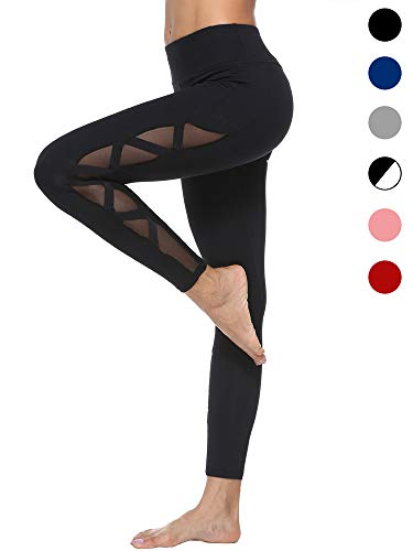 dh Garment Sport leggings Damen hohe Taille Yoga Hose mit Bundtasche – Bauchkontrolle (Größe M)