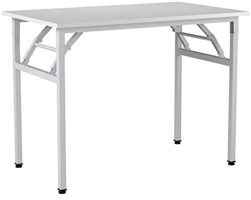 Need Schreibtisch Klapptisch Holzwerkstoffen Computertisch PC Tisch Bürotisch Arbeitstisch Esstisch für Zuhause, Büro, Picknick, Garten 100 * 60 cm,AC5DW-100