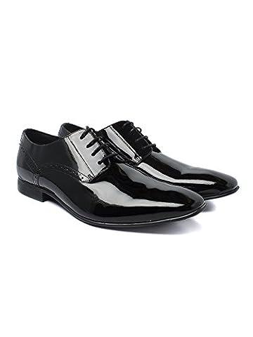 Scott & Taylor Patent Black Leather Dress Shoe 0048437 by Suit Direct Black 10