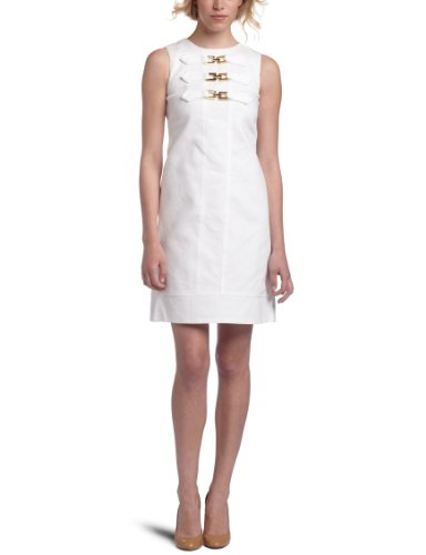 Eliza J Women's Sleeveless Toggle Front Shift Dress
