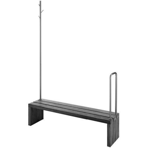 Duravit Blue Moon-Bank/Sprungbrett Teak Holz mit Handtuchhalter Fuß + Geländer -