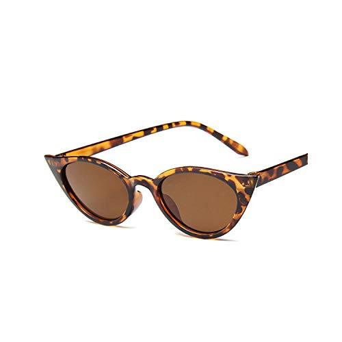 Sportbrillen, Angeln Golfbrille,Luxury Cat Eye Sunglasses Women Brand Designer Retro Vintage Sun Glasses Women Female Ladies Sunglass Mirror Lunettes De Soleil Leopard