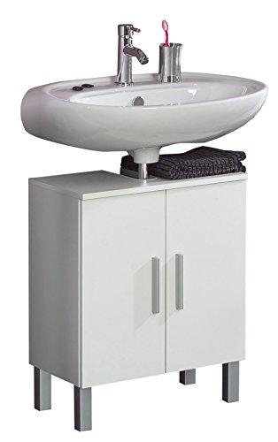 Kesper Badmöbel 2670000004001001 Waschbeckenunterschrank Monaco, 2 Türen, 63 x 50 x 31,3 cm, weiß (Monaco-schrank)