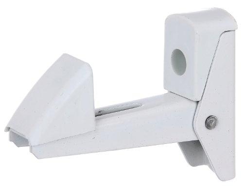 Gah-Alberts 307769 Tür- und Tor-Feststeller, selbstschließend, 20-50 mm, Aluminium, weiß
