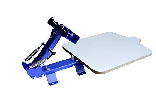 techtongda 1Farbe Druckmaschine Kit Maschine 1Station Silk Screening Drücken DIY