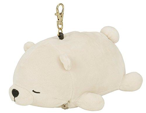 LivHeart Nemu Nemu Tiere Plüsch Passfall Fahrausweishüllen Weiß - Eisbär / Glück 38666-11 (Bento Snoopy)