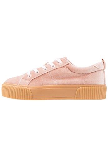 Even&Odd Sneaker Low für Damen - Freizeitschuhe aus Stoff - Turnschuh zum Schnüren in Rosa, Größe 37