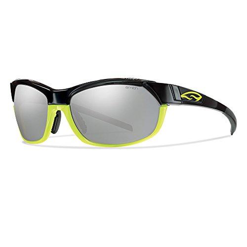 Smith Erwachsene Sportbrille Pivlock Overdrive Sonnenbrille, Schwarz (Black Yellow/I6+Zb+99), 61