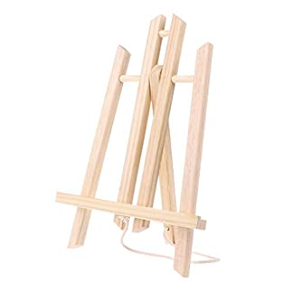 Xiuinserty Caballete de madera para exhibición de publicidad, estante expositor para pintura, caballete para niños 30
