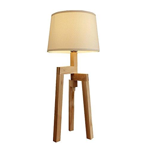 Log Drei Fuß Tischlampe Wachs Massivholz Nordic Einfachheit Schlafzimmer Studie Wohnzimmer Nachttischlampe -