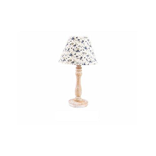 Lampada da tavolo in legno-modello floreale, 22x 40cm)