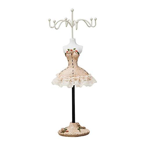 MoGist Schmuckständer Mode Prinzessin Kleid Form Schmuck Display Schmuckablage Kettenständer Ohrringhalter für Halsketten Ohrringe Armbänder (Style1)
