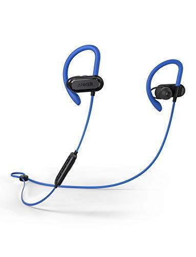Soundcore Spirit X Bluetooth Kopfhörer, mit SweatGuard Technologie, 12 Stunden Akkulaufzeit, Super Halt und Fantastischem Sound, für iPhone, iPad, Samsung, Huawei und mehr (Blau)