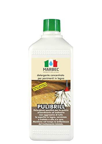 Marbec - pulibrill 1lt | detergente concentrato specifico per pavimenti in legno e parquet