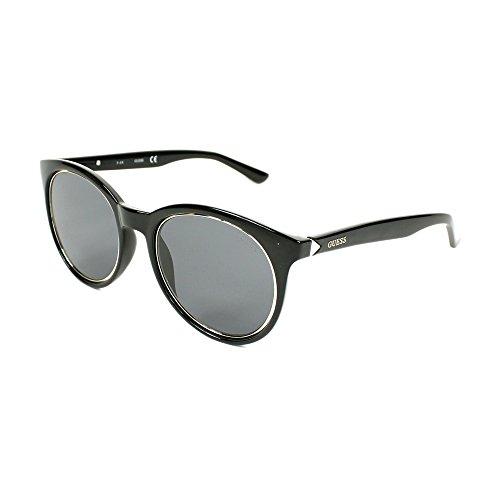 Guess gu7466 01a 53, occhiali da sole unisex adulto, nero lucido\fumo