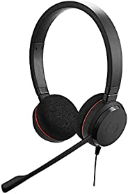 Jabra Evolve 20 Stereo Headset – Wired Headphones for VoIP Softphone with Passive Noise Cancellation – USB-Cab