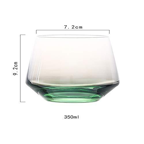 Neuheit Weingläser Saft Gläser Blume Glas Tassen Tee Home Cheers Bar Party , Grün , 4er Set