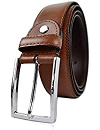 Zerimar Cinture da Uomo in Pelle Stile Vintage, Regolabile-Cintura di cuoio Altezza 3.5 cms Colore: Marrone Misure: 100
