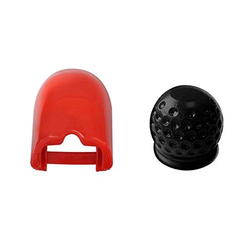 uferdamm 2er Set Soft-dock für Zugkugelkupplungen inkl. Kupplungsadeckung / Kugelschutzkappe Anhängerkupplung Golfball schwarz
