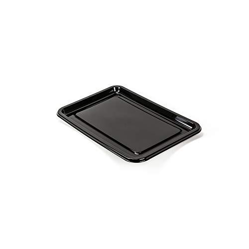 Silverkitchen Tablett Plastik Einweg stabil schwarz Servierplatte Einweggeschirr 46 x 30 cm 10 Stück