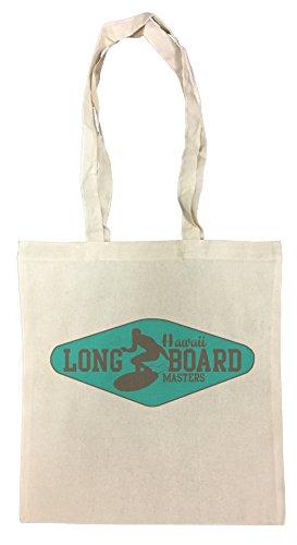 Erido Long Board Hawaii Masters Einkaufstasche Wiederverwendbar Strand Baumwoll Shopping Bag Beach Reusable