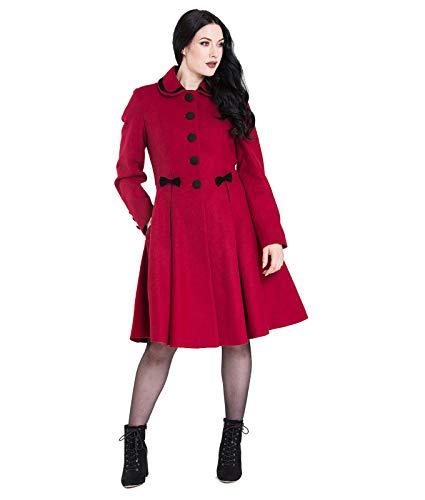 Hell Bunny Olivia Lazo Estilo Vintage Abrigo - Rojo