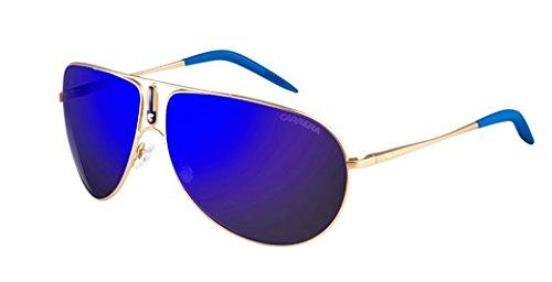 Carrera Gipsy/S Sunglasses GIPSYS-0AOZ-XT-6411 - Semi Matte Gold Frame, Blue Sky Miror Lenses, image