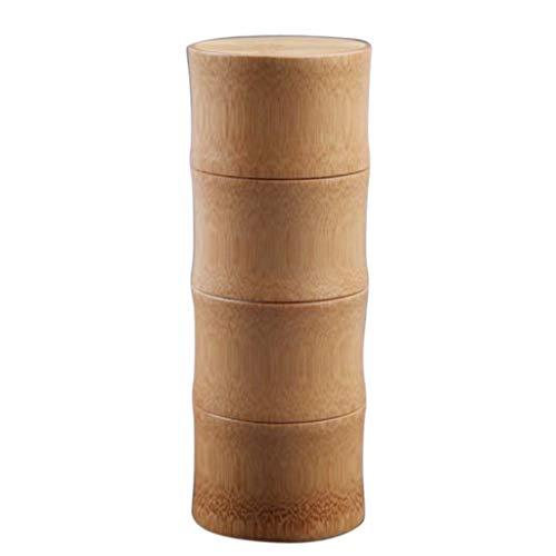 Homyl Bambus Vorratsdose Teebox Teedose Kaffeedose mit Deckel für Tee Kaffee Gewürz Kräute,...