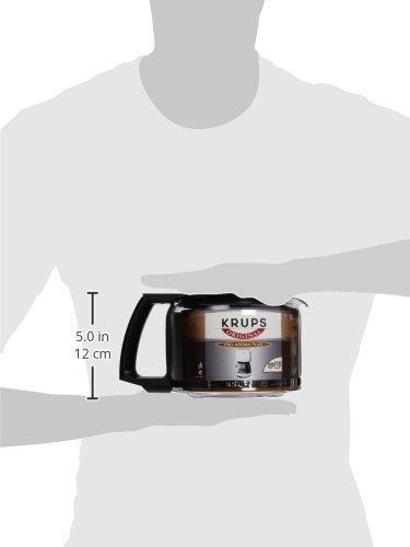 krups f03442 glaskrug espresso kaffeemaschinenzubeh r mit deckel 10 tassen schwarz. Black Bedroom Furniture Sets. Home Design Ideas