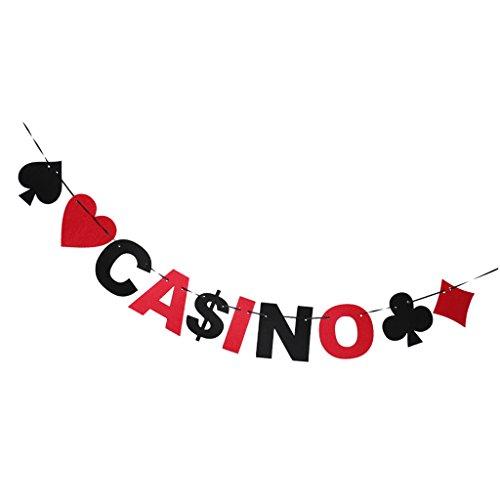 MagiDeal Casino Girlande Banner Hochzeit Geburtstag Poker Party Girlande Dekoration