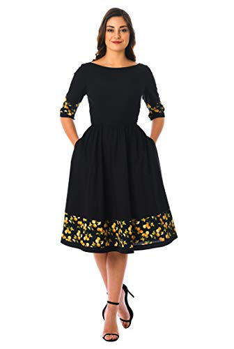 92a908adf797 Shree Ambaji Creation Casual solid fit and flare knee length dress for  women western wear skater