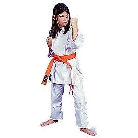 6 onza ProForce. 100% algodón uniforme de estudiante - blanco (tradicional) tamaño 0 (talla infantil 12-14) - EA.